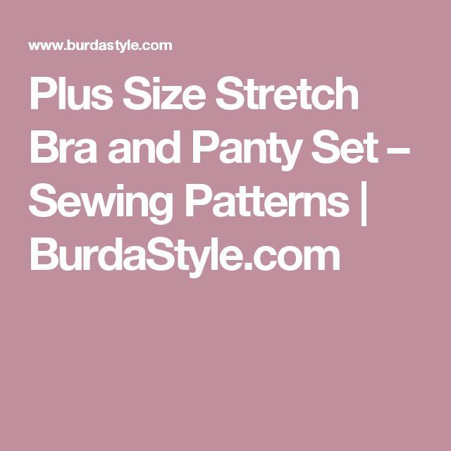 Plus Size Stretch Bra and Panty Set – Sewing Patterns | BurdaStyle.com
