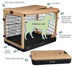 Plastic Portable Dog Crates - Metal Wire Folding Dog Crate