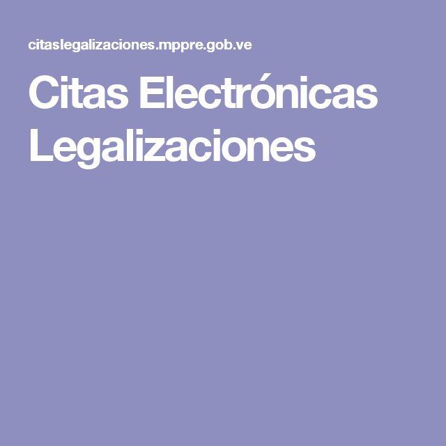 Citas Electrónicas Legalizaciones