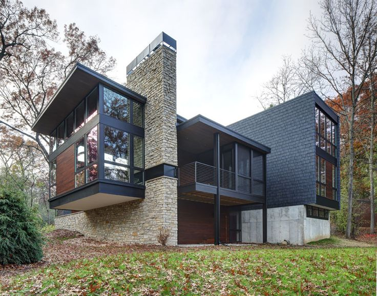 20 best marrying stone with contemporary style images on for Contemporary home builders wisconsin