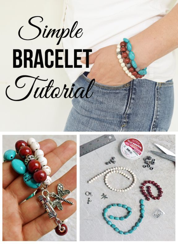 Simple Beaded Bracelet Tutorial - DIY Jewelry is much easier than it looks. This jewelry making tutorial takes you through the beginner steps to creating a beautiful bracelet you will be proud to show off.