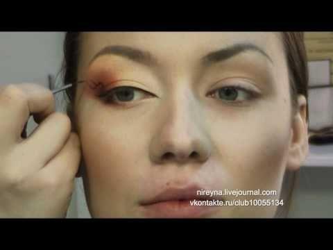 ▶ Orange Make Up \ Макияж в оранжевых тонах - YouTube