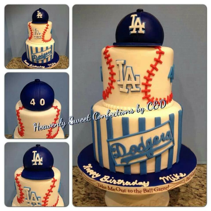 Top Baseball Cakes: 25+ Best Ideas About Dodgers Cake On Pinterest