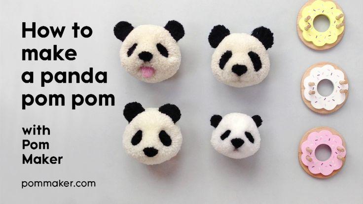 How to Make a Panda Pompom - Pom Maker Tutorial