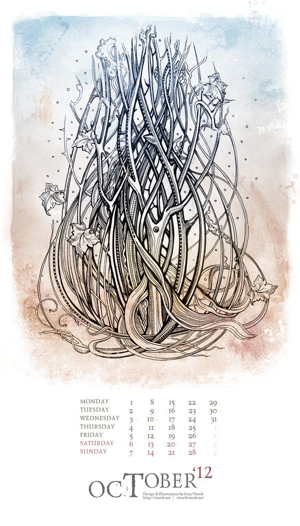 Calendar 2012 by Irina Vinnik
