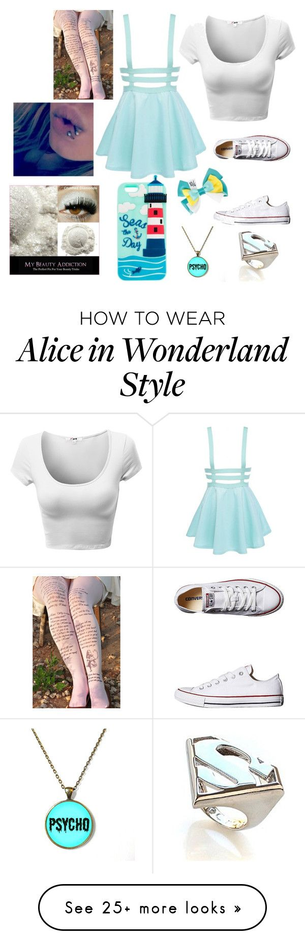 """""""Untitled #398"""" by tati-howell on Polyvore featuring Converse, Noir and Disney"""