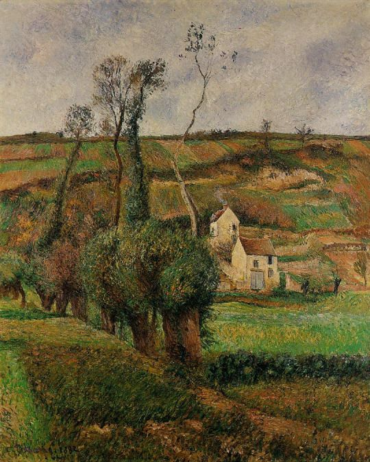 The cabbage place at Pontoise by Camille Pissarro