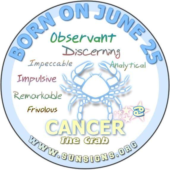 June 25 Zodiac Horoscope Birthday Personality Sunsigns Org Birthday Horoscope Birthday Personality July 9th Zodiac