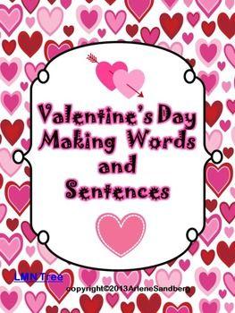 valentine 39 s day making words and sentences grade 1 2 lmn tree. Black Bedroom Furniture Sets. Home Design Ideas