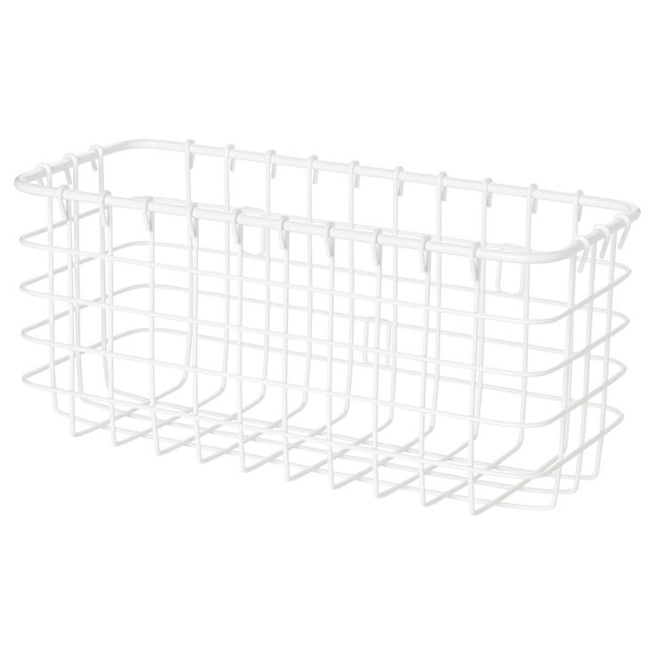 """BLANKEN Wire basket - IKEA $3.99  Product dimensions  Width: 9 """"  Depth: 3 7/8 """"  Height: 4 1/8 """"  perfect to mount inside your bathroom cabinet doors- hold small electrics, that ugly toothbrush charger, hair tools, etc..."""