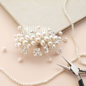 Large Dew Pearl Hair Comb