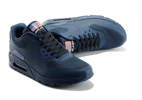 Nike Mens Air Max 90 Independence American Flag Navy Running ...