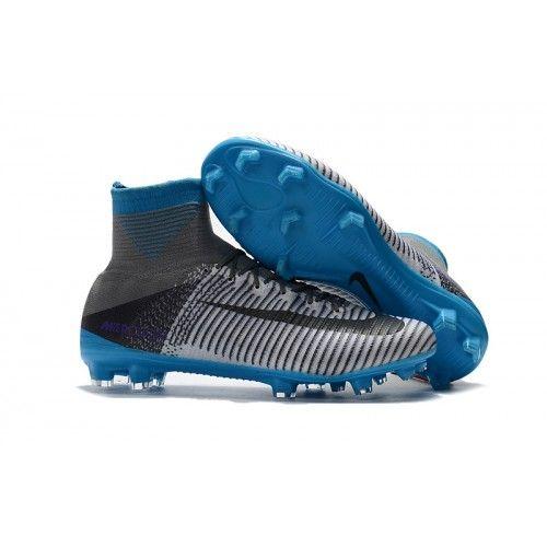 2017 Nike Mercurial Superfly V FG Botas De Futbol Gris Azul