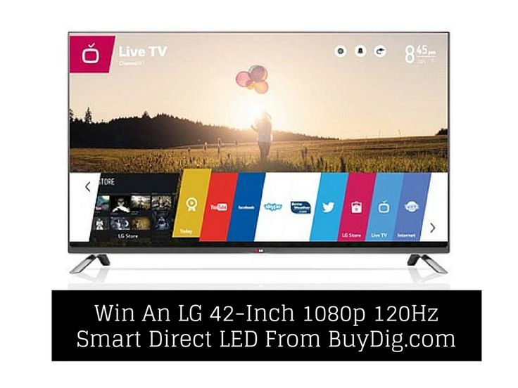 win a lg 42inch 1080p 120hz smart direct led tv from buydigcom