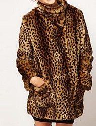 abrigo de piel de imitación de leopardo británico... – EUR € 85.51