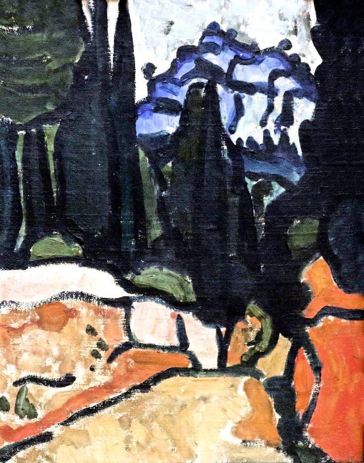 André Derain (1880-1954) Paris. Cyprès à Cassis. Cypress in Cassis. 1907. Grenoble. Musée des Beaux Arts.