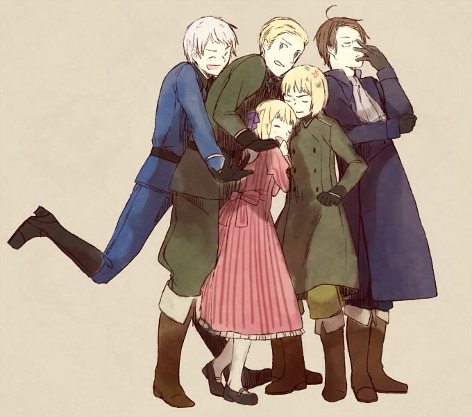 Hetalia (ヘタリア) - The Germans :) - Austria, Switzerland, Liechtenstein, Germany, Prussia