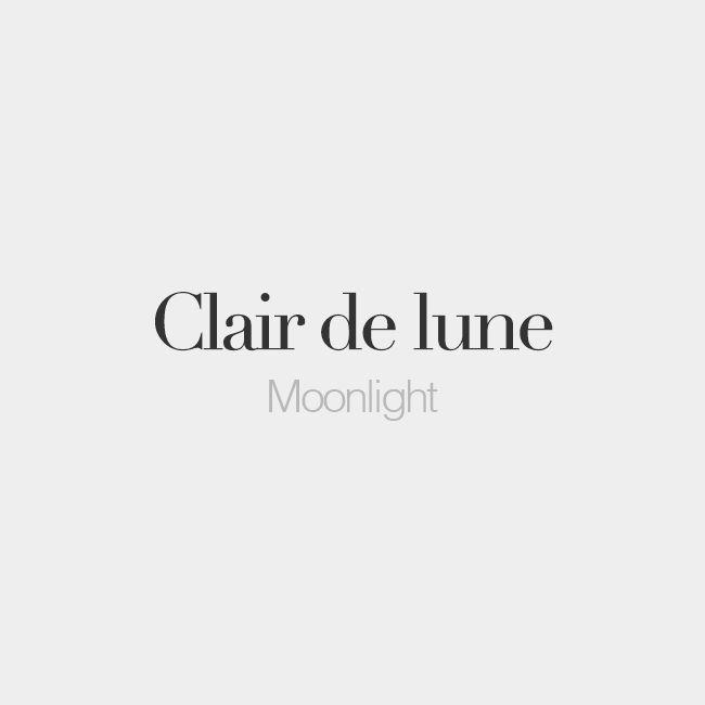 Clair De Lune (masculine Word)