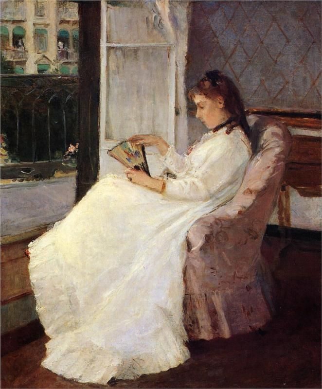 'The Artist's Sister at a Window' by Berthe Morisot, 1869.
