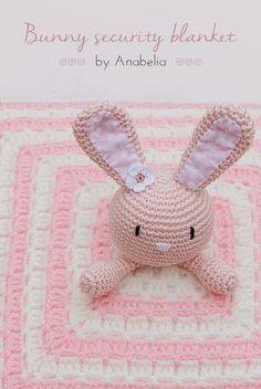 Tutorial DIY come fare copertina a uncinetto con coniglietto amigurumi.