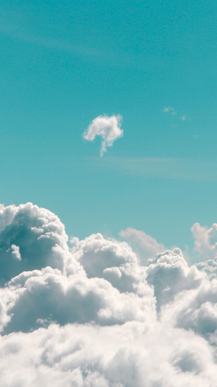 White Clouds Blue Sky Sea Of Clouds 720x1280 Wallpaper