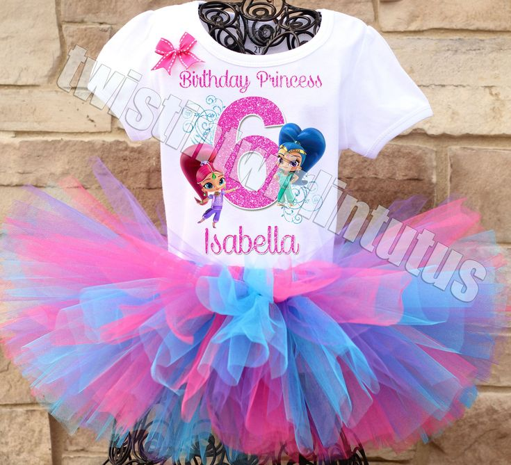 Shimmer and Shine Birthday Outfit | Shimmer and Shine Birthday Party | Shimmer and Shine Party Ideas | Birthday Party Ideas for Girls | Twistin Twirlin Tutus #shimmerandshinebirthday