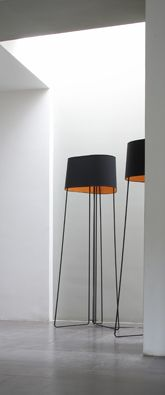 Modern lamp for its beautiful shape and once again, to pick up on the black in the windows