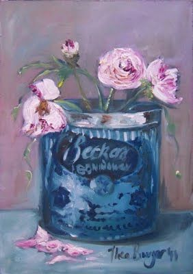 Shades of life by Thea Burger: Boning wax tin with roses