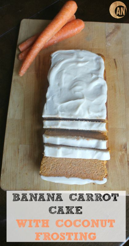 Banana Carrot Cake with Coconut Frosting (Paleo, Primal, Dairy Refined Sugar Free)