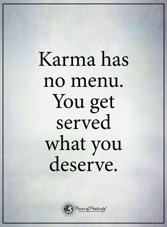 I believe in karma.. what I m doing is not wrong until she is not loving me. Period