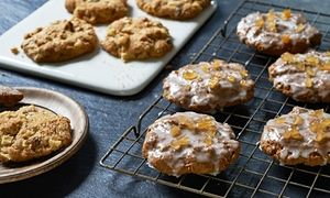 Lemon Glazed Gingerbread Rock Cakes