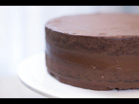 Une base adaptée au Cake Design – Gâteau chocolat-ganache – Yosra