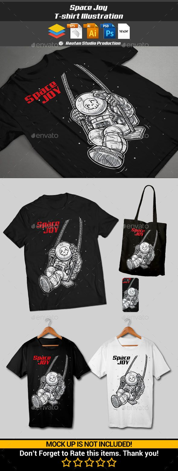 White t shirt eps - Space Joy T Shirt Designsfontstemplates