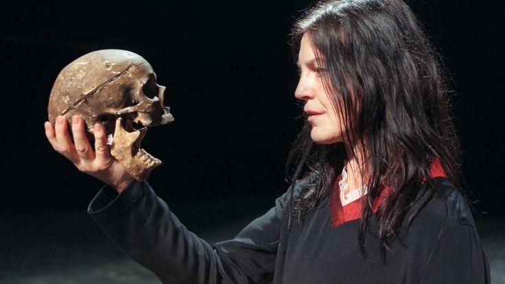 Angela Winkler as Hamlet at the Edinburgh Festival