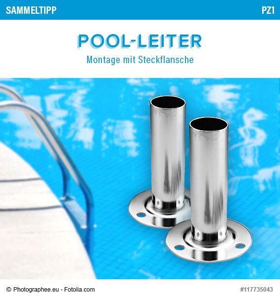 POOLSANA Sammeltipp Nr. 12: Pool-Leiter - Montage mit Steckflansche #poolleiter #ratgeber