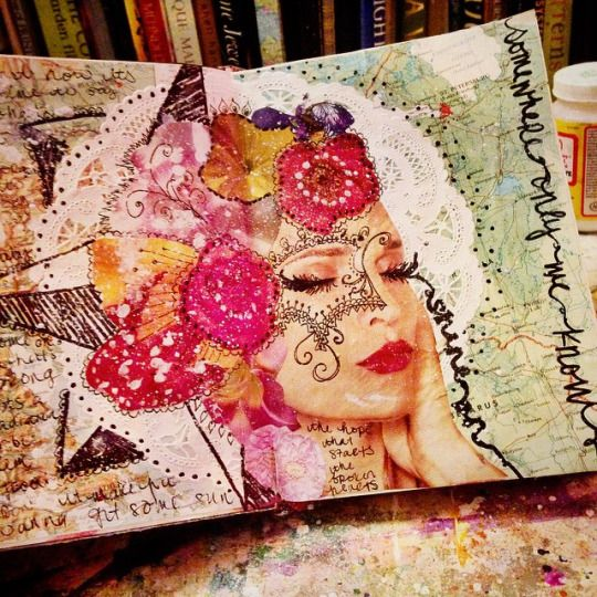 Create More Light: Art Journal Pages As of Lately