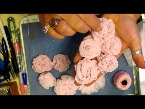 Розы, в стиле винтаж, из капрона и шифона. видео мастер - класс. Обсуждение на LiveInternet - Российский Сервис Онлайн-Дневников