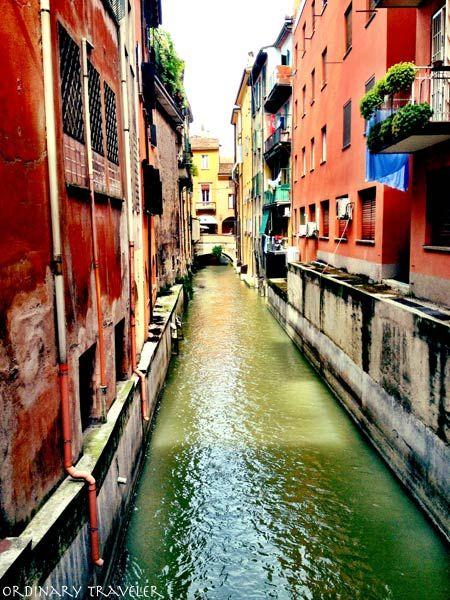 Hidden canal in Bologna, Italy. #blogville