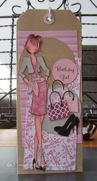 Voor mijn schoonzusje uit Roemenië, die over enkele weken jarig is, heb ik deze kaart gemaakt. Ze is helemaal gek op schoenen en tassen e...