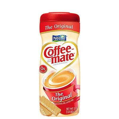 Take Coffee-Mate products, for example: Each serving contains 0 grams trans fat, yet, for most flavors (even the fat-free and low-fat varieties), partially hydrogenated oils are the second or third ingredient listed.