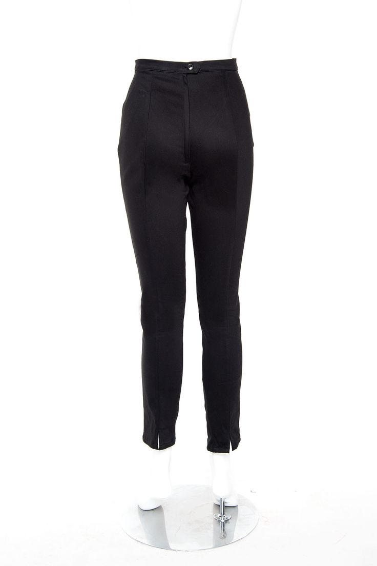 cigarette retro pants in black twill pinup girl clothing