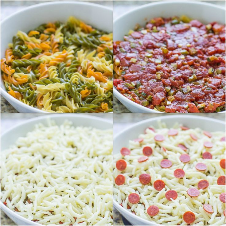 Pack more veggies into your family's diet with this Pizza Pasta Bake. Even the pasta has vegetables! Add your favorite toppings for an easy, kid-friendly weeknight meal.