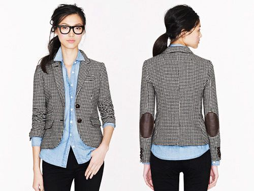 Elbow Room: Houndstooth Schoolboy blazer from J.Crew