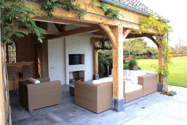 60 geselecteerde idee n over overkapping buitenkeuken door pukkie2008 patio schuifdeuren en - Overdekt terras in hout ...