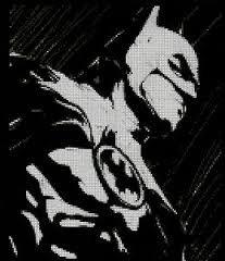 batman cross stitch pattern