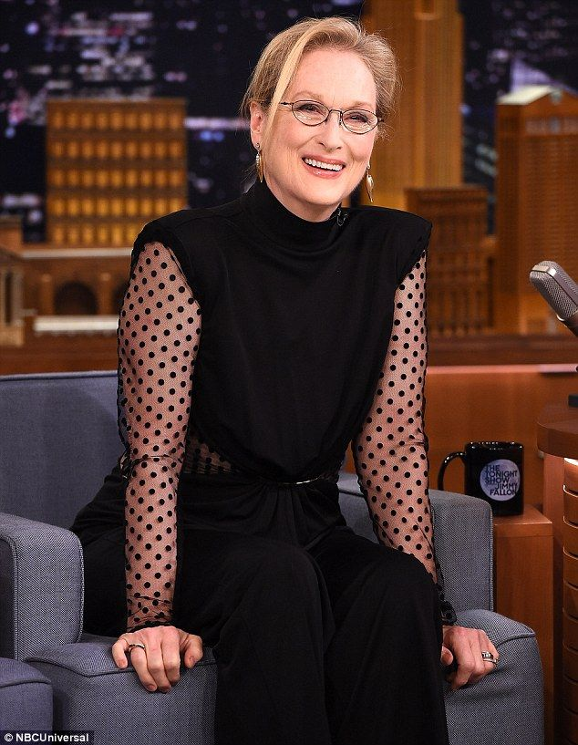 Busy schedule: Meryl looked amazing as she appeared on the Tonight Show Starring Jimmy Fal...
