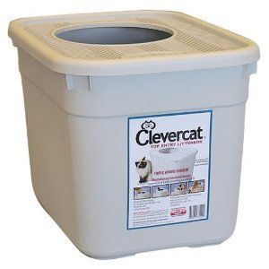 Clevercat Top Entry Litterbox - The award-winning clevercat top entry litter box nearly eliminates tracking, prevents over-the-edge spills and reduces odor. Excellent for cats that love to dig and kick litter. Clevercat is dog-proof from most dogs.