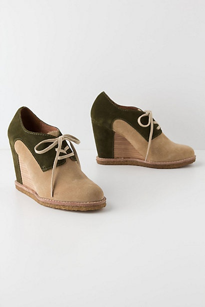 Marta Lace-Up Wedges  by Anthropologie