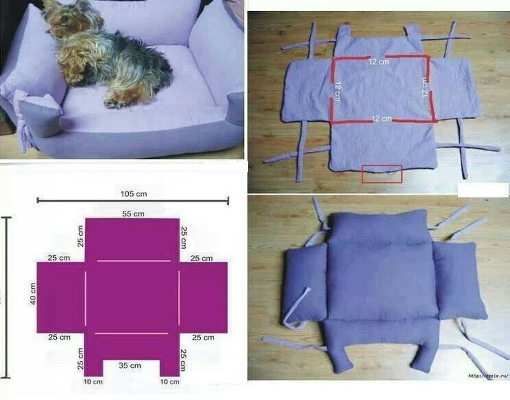 Diy cat 39 s or dog 39 s bed sewing knitting and other - Como hacer una cama de perro ...