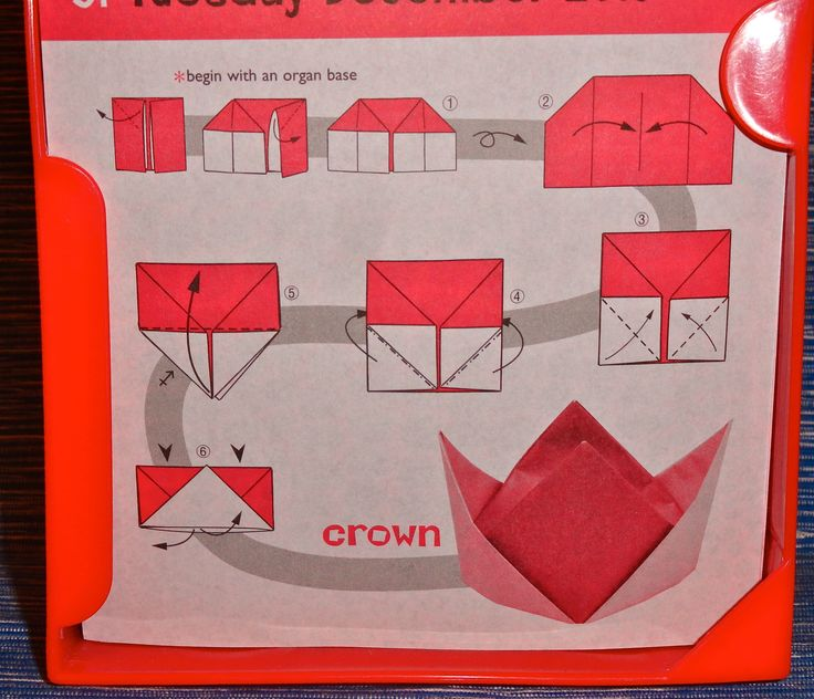 origami crown - Google Search